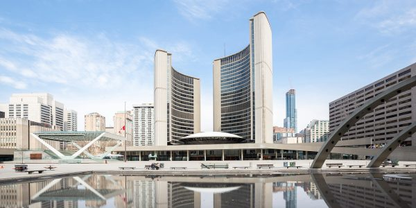 City Hall of Toronto at Nathan Phillips square, Ontario, Canada
